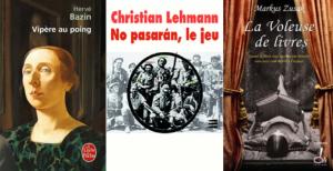 vipère au poing hervé basin no pasaran christian lehmann la voleuse de livres markus zusak