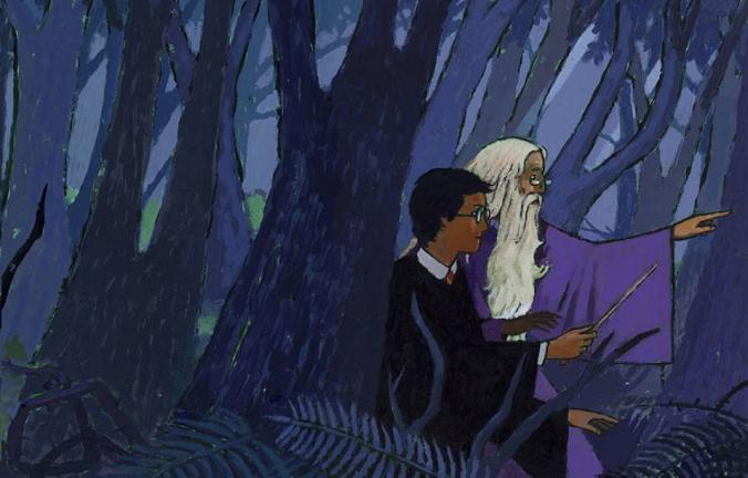 illustration de couverture harry potter 6 le prince de sang-mêlé gallimard