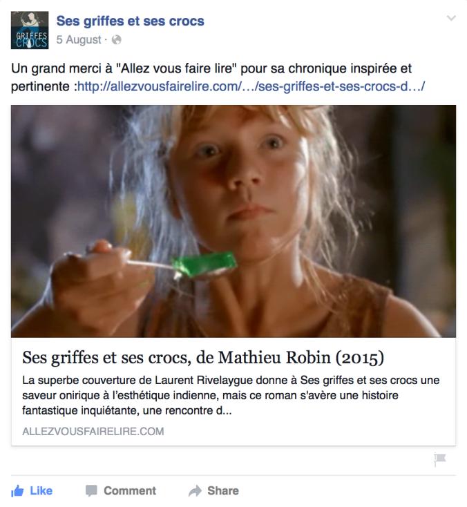 mathieu robin facebook ses griffes et ses crocs