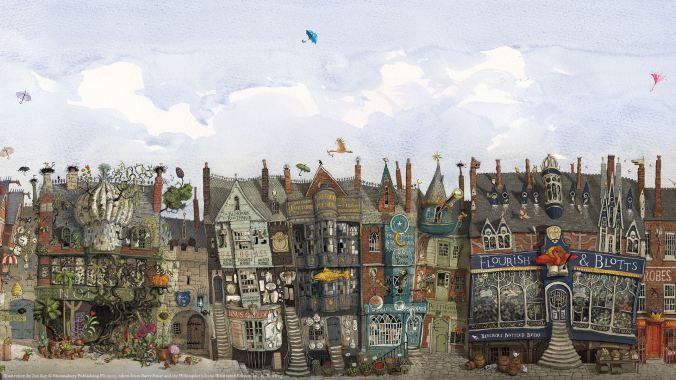 harry potter illustré diagon alley chemin de traverse