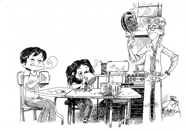illustrations boulet par bonheur le lait