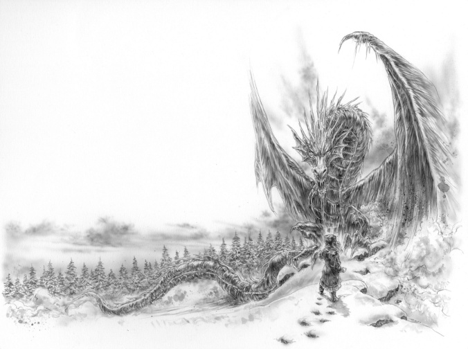luis royo illustrations dragon de glace