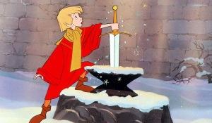 arthur épée merlin l'enchanteur gif