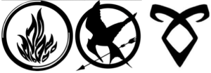 logo divergente hunger games mortal intruments