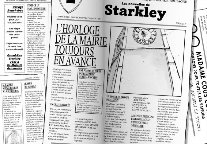 journaux starkley hector petrifieurs danny wallace